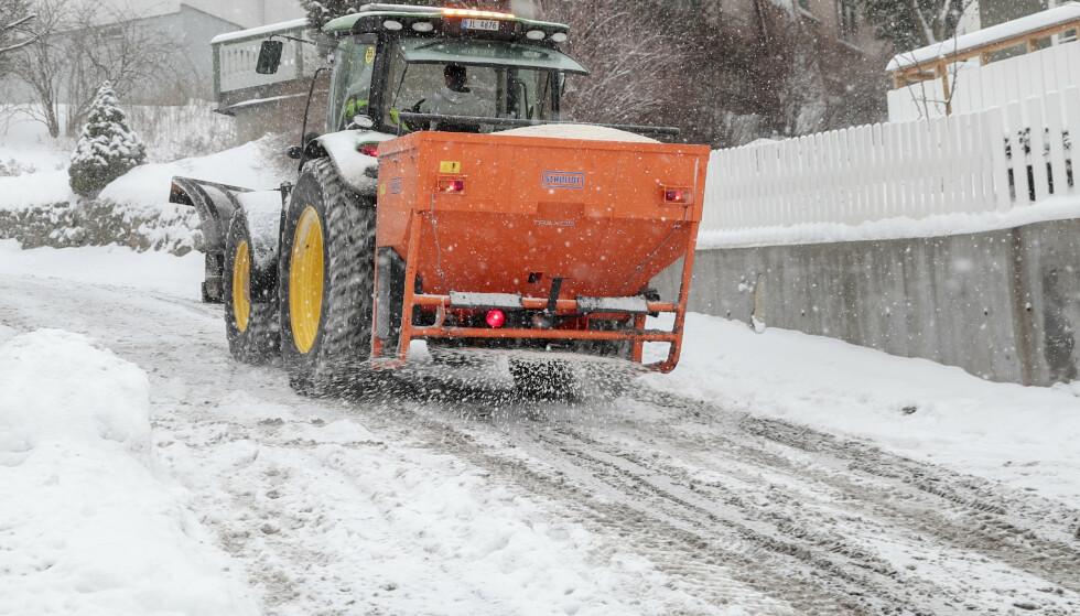 Det kan bli vanskelige kjøreforhold på Østlandet de kommende dagen. Her fra Oslo i 2019. (Foto: Håkon Mosvold Larsen / NTB)