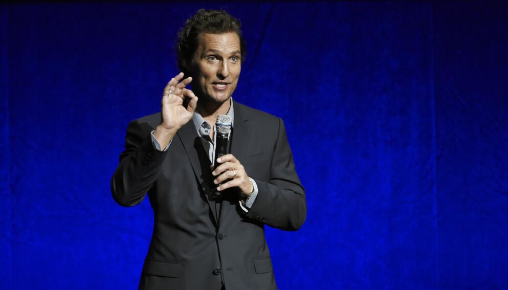 Skuespiller Matthew McConaughey leker med tanken på å utfordre Texas' sittende guvernør. Foto: Chris Pizzello/Invision/AP, File.