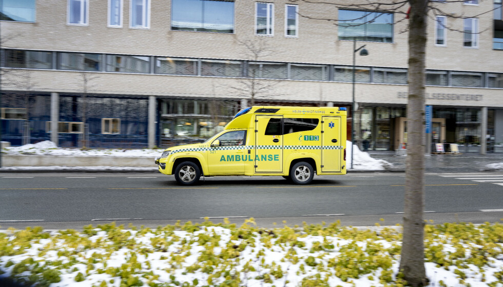 Ambulanse ved St. Olavs hospital i Trondheim. Foto: Gorm Kallestad / NTB