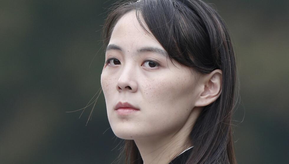 Kim Jong-uns søster Kim Yo-jong advarer USA mot å «spre lukten av kruttrøyk» over Nord-Korea, mens Bidens utenriks- og forsvarsministre er på reise til Tokyo og Seoul. Arkivfoto: Jorge Silva / Pool Photo via AP / NTB