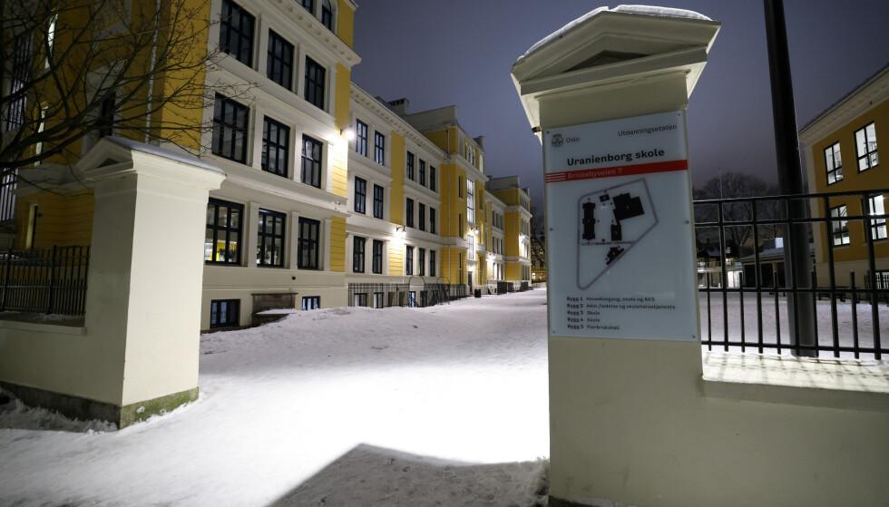 Uranienborg ungdomsskole i Oslo er en av mange som er stengt etter byrådets siste innstramminger. Foto: Ørn E. Borgen / NTB