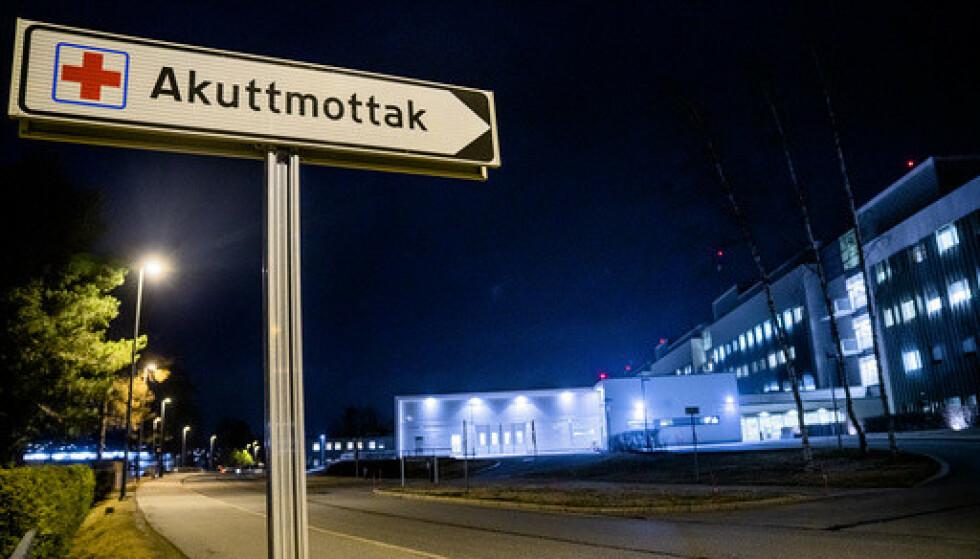 Tallet på coronapasienter i Helse sør-øst er firedoblet på én måned. Her er akuttmottaket til Akershus universitetssykehus (Ahus). Illustrasjonsfoto: Stian Lysberg Solum / NTB