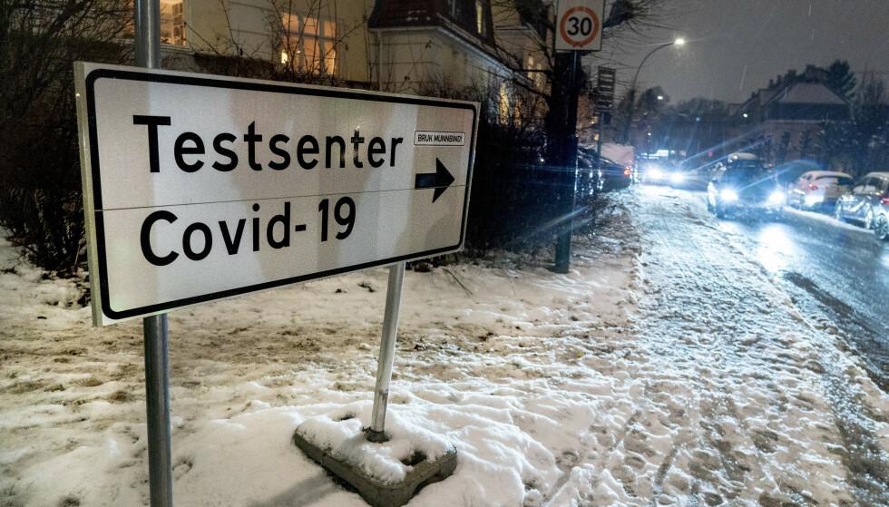 Det siste døgnet er det registrert 577 koronasmittede i Norge. Det er 243 færre enn dagen før. Foto: Terje Pedersen / NTB