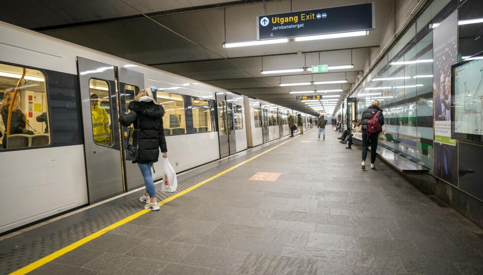 Jernbanetorget t-banestasjon. Foto: Heiko Junge / NTB