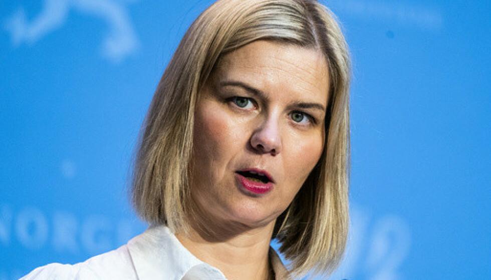 Kunnskaps- og integreringsminister Guri Melby (V) legger seg flat etter en kommentar i VG før helgen. Foto: Håkon Mosvold Larsen / NTB Click to add image caption