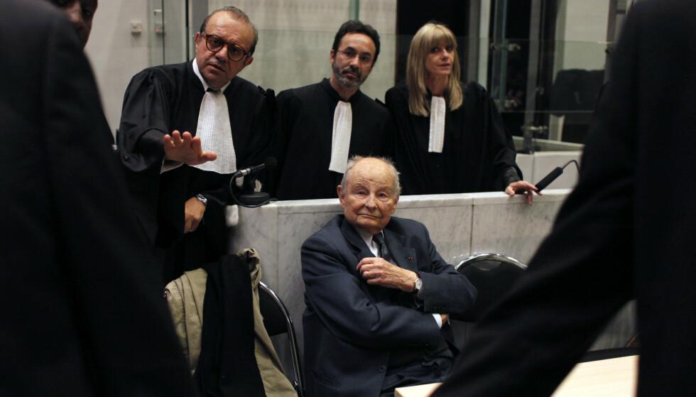 Jacques Servier, som grunnla legemiddelselskapet Servier, fotografert da rettssaken ble innledet i 2013. Arkivfoto: Thibault Camus / AP / NTB