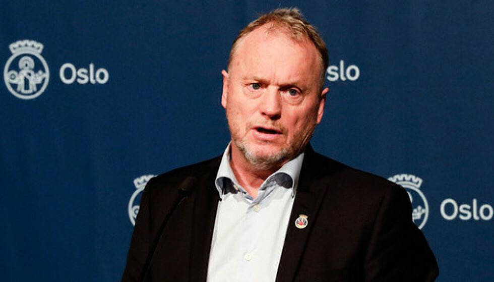 I Oslo jobber byrådsleder Raymond Johansen (Ap) med en plan for gjenåpning av hovedstaden, som kan være klar neste uke. Han mener Oslo må gjenåpnes ved at de sist innførte tiltakene lettes først. Arkivfoto: Berit Roald / NTB