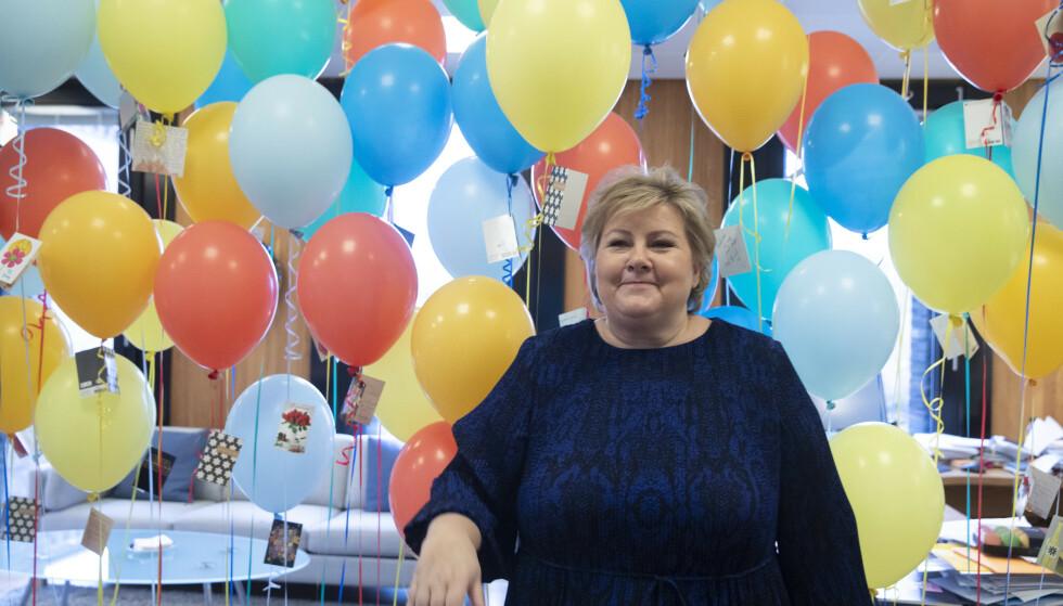 Statsminister Erna Solberg fylte 60 år i februar. Foto: Berit Roald / NTB