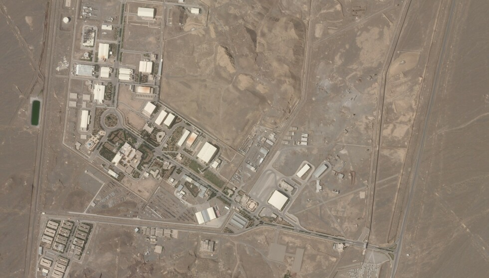Satellittfoto fra Natanz-anlegget. Bildet ble tatt 7. april. Foto: Planet Labs Inc. via AP / NTB