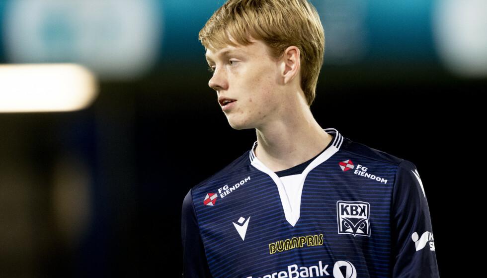 Noah Solskjær ler av uttalelsene som falt søndag. Foto: Svein Ove Ekornesvåg / NTB