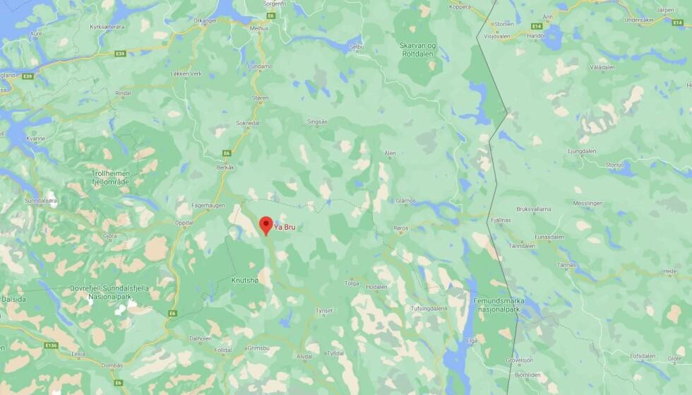 Ulykken skjedde på riksvei 3 i Kvikne i Innlandet. Foto: Google Maps.