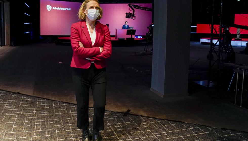 – En seier til AUF, sier leder i Aps redaksjonskomité Anniken Huitfeldt. Lørdag vedtok Aps landsmøte å gå inn for en historisk endring av abortloven. Foto: Torstein Bøe / NTB