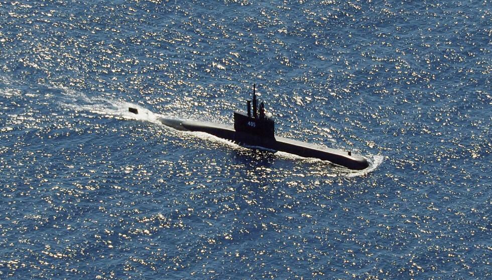 En ubåt deltok i søket. (Foto: AP/NTB)