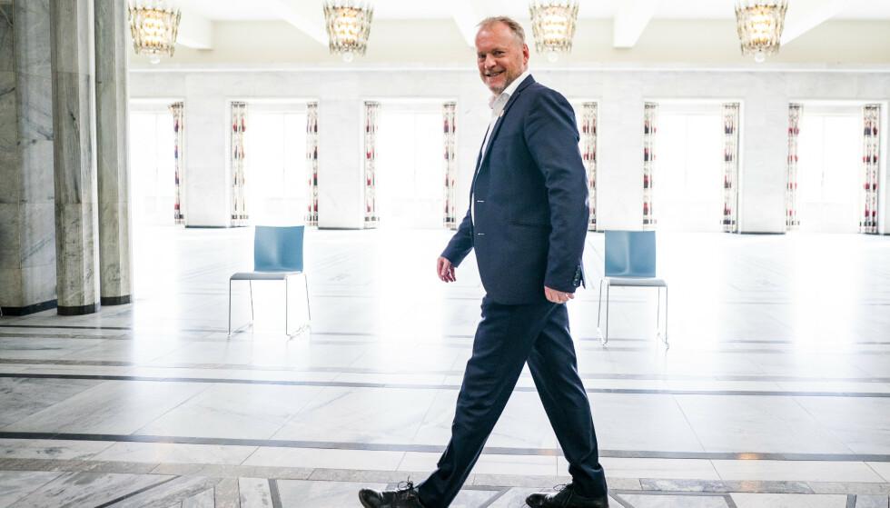 Byrådsleder Raymond Johansen (Ap) presenterte tirsdag en gjenåpningsplan for Oslo. Foto: Håkon Mosvold Larsen / NTB