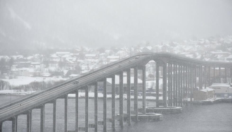 Vårsnøen skal lave ned flere steder i nord, men det roer seg før helgen. Foto: Rune Stoltz Bertinussen / NTB