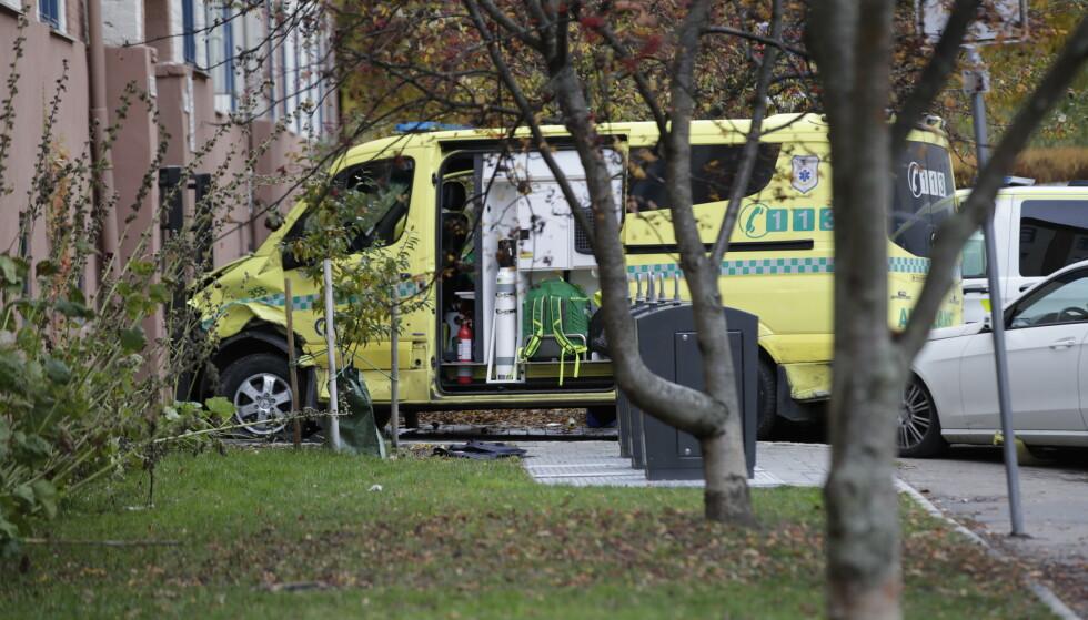 Mannen har erkjent at han ranet til seg en ambulanse i oktober 2019. Han erkjenner likevel ikke straffskyld for drapsforsøk. Foto: Stian Lysberg Solum / NTB