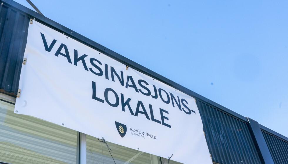 Askim 20210426.  Vaksinelokaler i Askim sentrum. Foto: Terje Pedersen / NTB