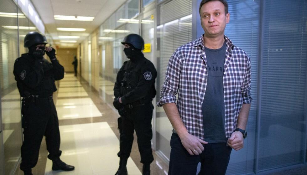 Den russiske regimekritikeren Aleksej Navalnyj sitter fengslet og avsluttet nylig en sultestreik. Arkivfoto: Alexander Zemlianichenko / AP / NTB