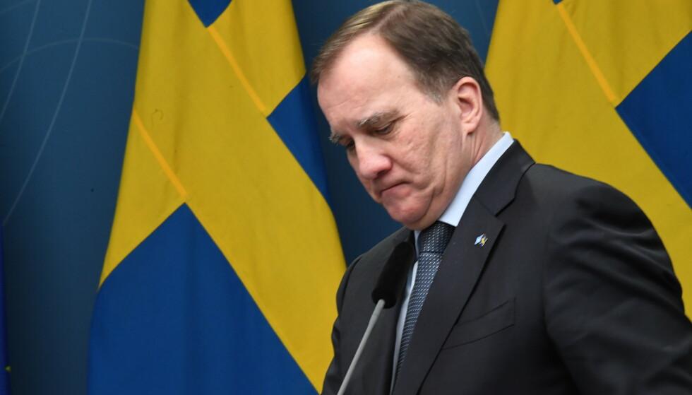 Statsminister Stefan Löfven sa denne uka at det er for tidlig å si hva som gikk riktig og galt i Sveriges håndtering av koronapandemien. Foto: Fredrik Sandberg / TT / NTB