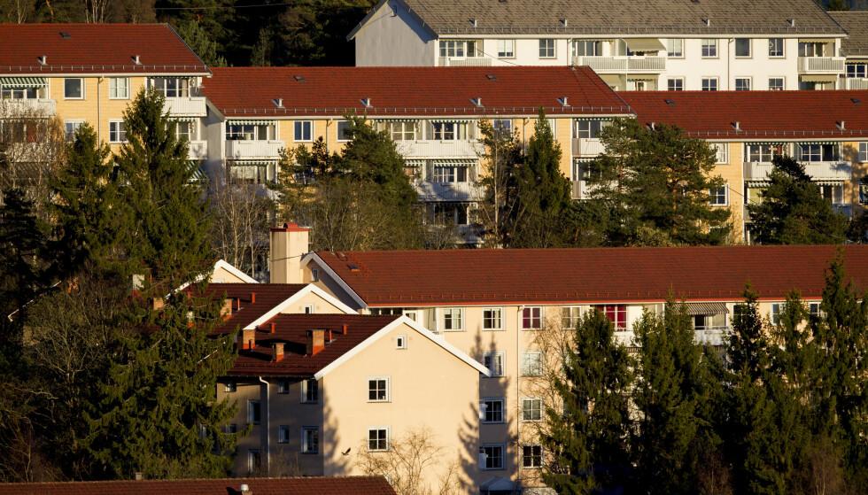 Smittetrykket i Oslo er for tiden høyest her på Bjerke med 440 smittede per 100.000 de siste to ukene. Foto: Vegard Wivestad Grøtt / NTB