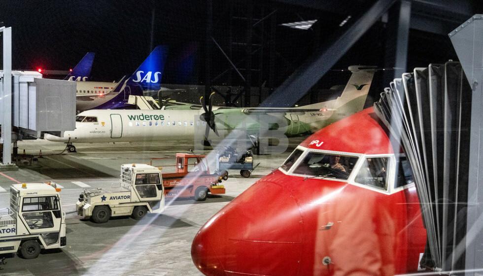 Luftfarten var den bransjen som hadde den største nedgangen i utslipp av klimagasser. Foto: Gorm Kallestad / NTB