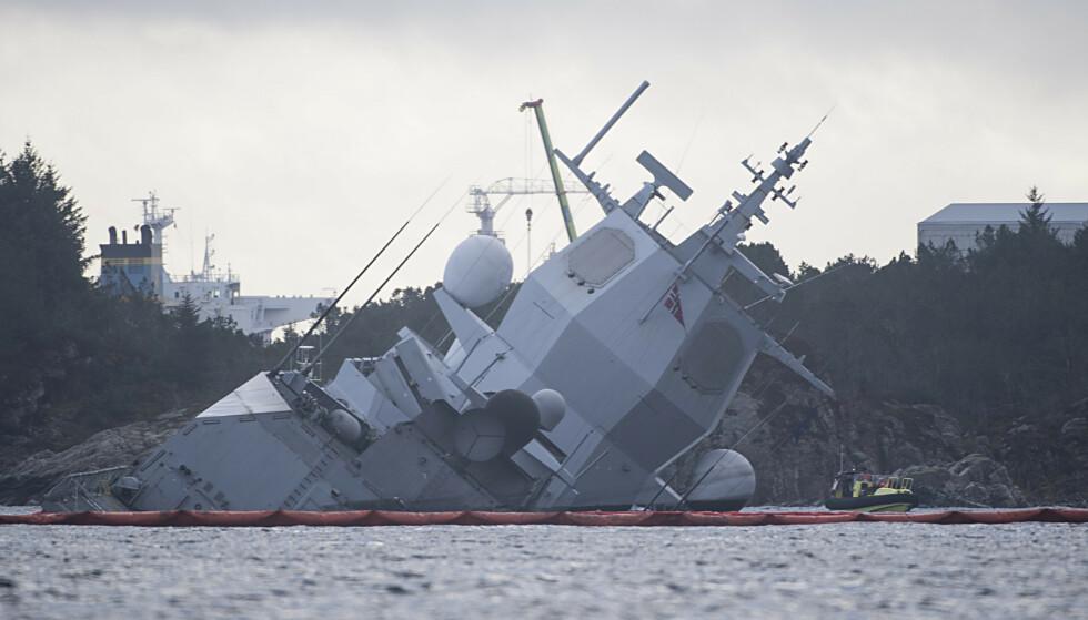 Mannen var leid inn for å tømme fregatten etter forliset. Tok med seg «klenodier» hjem. Foto: Marit Hommedal / NTB