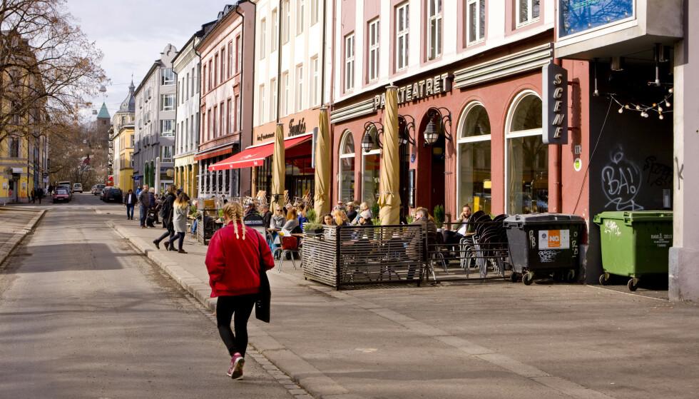 Grünerløkka bydel er nå oppe på andreplass med smittetrykk på 380, og bydelen har passert Stovner bydel i smittetrykk. Foto: Thomas Brun / NTB