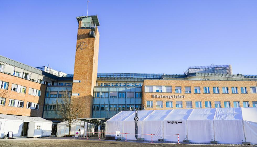 Oslo 20210130.  Rikshospitalet i Oslo. Foto: Håkon Mosvold Larsen / NTB