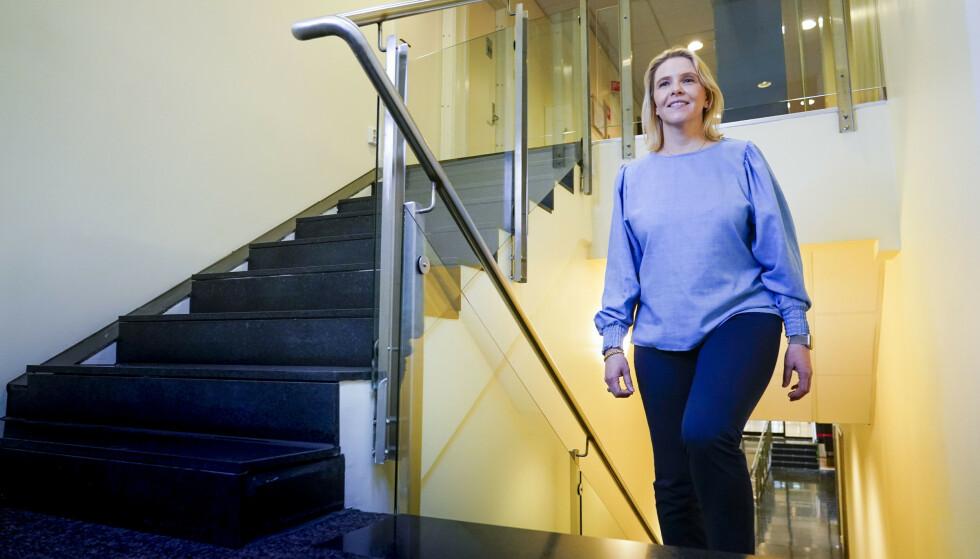 Sylvi Listhaug har gått gradene i Fremskrittspartiet siden hun ble aktiv i 1998. Nå er hun klar for å ta skrittet til topps. Lørdag velges hun til partiets nye leder. Foto: Lise Åserud / NTB