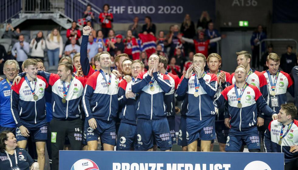 Norsk jubel etter EM-bronse i sluttspillet i 2019. Foto: Vidar Ruud / NTB