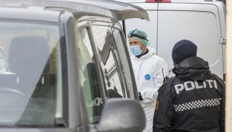 Denne uken rykket politiet ut til et mistenkelig dødsfall i Lyngdal. Det er den sjette drapssaken i Norge på drøye tre uker, etter at 2021 var drapsfri i tre og en halv måned. Foto: Tor Erik Schrøder / NTB