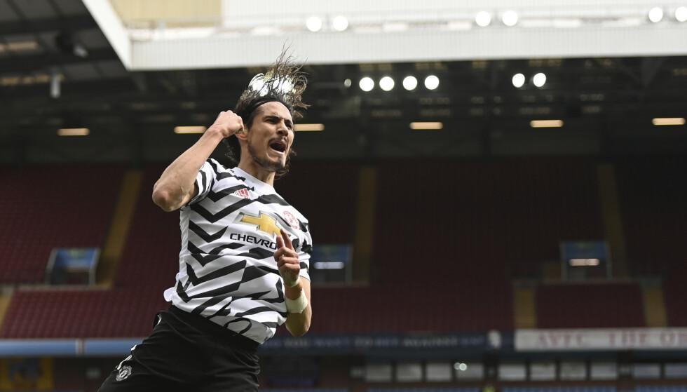 Edinson Cavani viste seg fram som superinnbytter for Manchester United søndag. Foto: Shaun Botterill / Pool via AP / NTB
