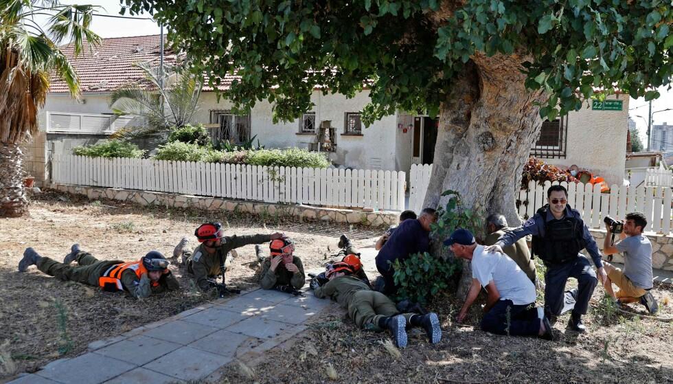 To kvinner ble drept i angrep i sør Israel. FOTO:JACK GUEZ / AFP via NTB/Sscanpix