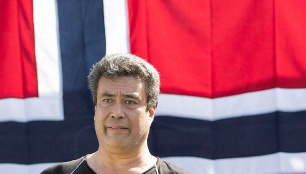 En mann er dømt for drapet på Dan Eivind Lid. Her fra markeringen fra Stopp islamiseringen av Norge (Sian) på Eidsvolls plass i august 2020. Foto: Geir Olsen / NTB