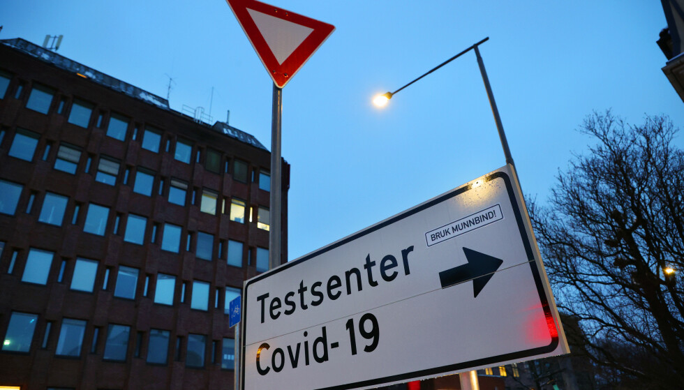 Oslo 20210219.  Adamstuen teststasjon er en av Oslo kommunes teststasjoner hvor man kan ta en drop-in koronatest. Foto: Ørn E. Borgen / NTB