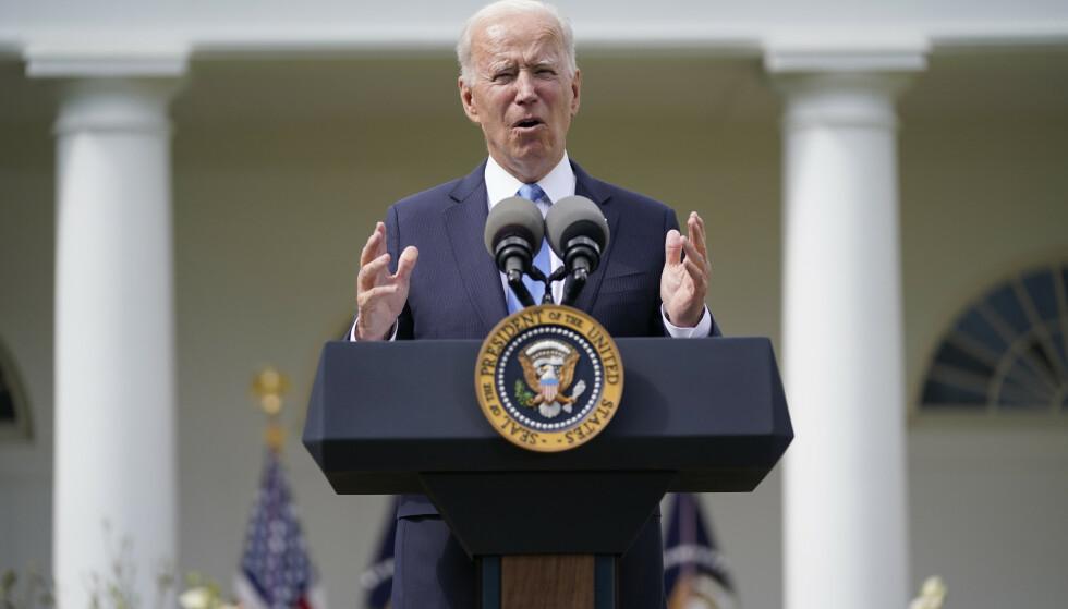USAs president Joe Biden avbildet tidligere i mai. Foto: Evan Vucci / AP / NTB