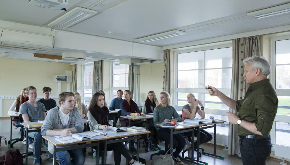 Høyre vil legge om ungdomsskolen for å bedre fange opp både faglig sterke og svake elever. Foto: Berit Roald / NTB