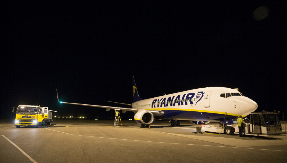 Et Ryanair-fly på Rygge Lufthavn i 2016. Illustrasjonsfoto: Håkon Mosvold Larsen / NTB