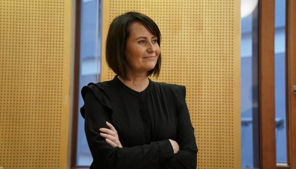 Line Andersen møter arbeidsgiver NRK i Oslo tingrett med påstand om ugyldig endringsoppsigelse. Foto: Stian Lysberg Solum / NTB