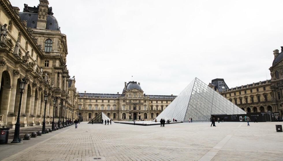 Louvre, fransk Musée du Louvre, er et av verdens største museer Foto: Berit Roald / NTB