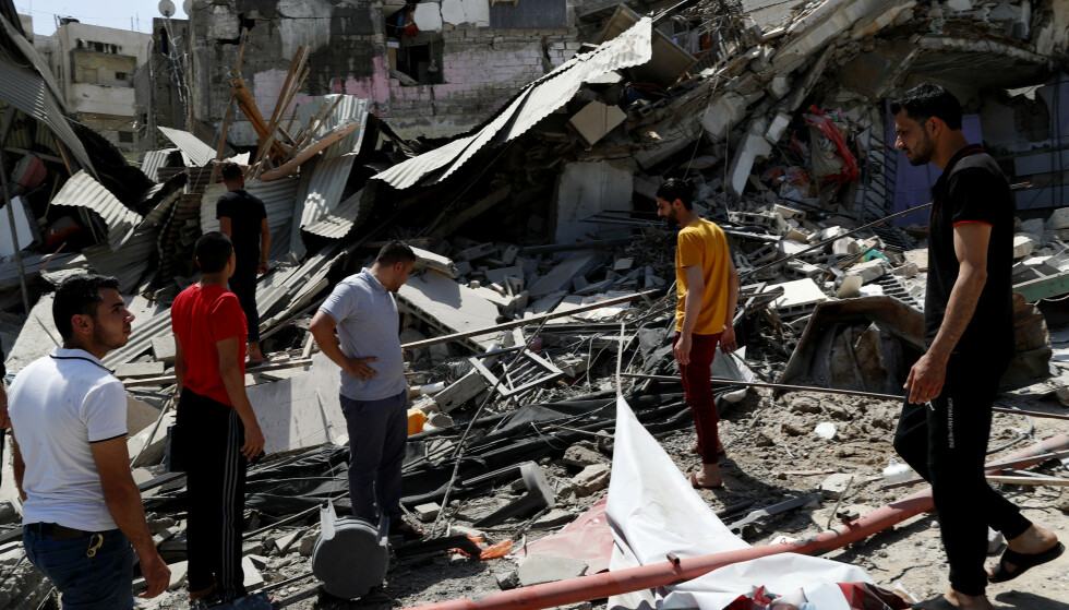 Det er store ødeleggelser på Gazastripen etter elleve dager med israelske angrep. Foto: AP / NTB