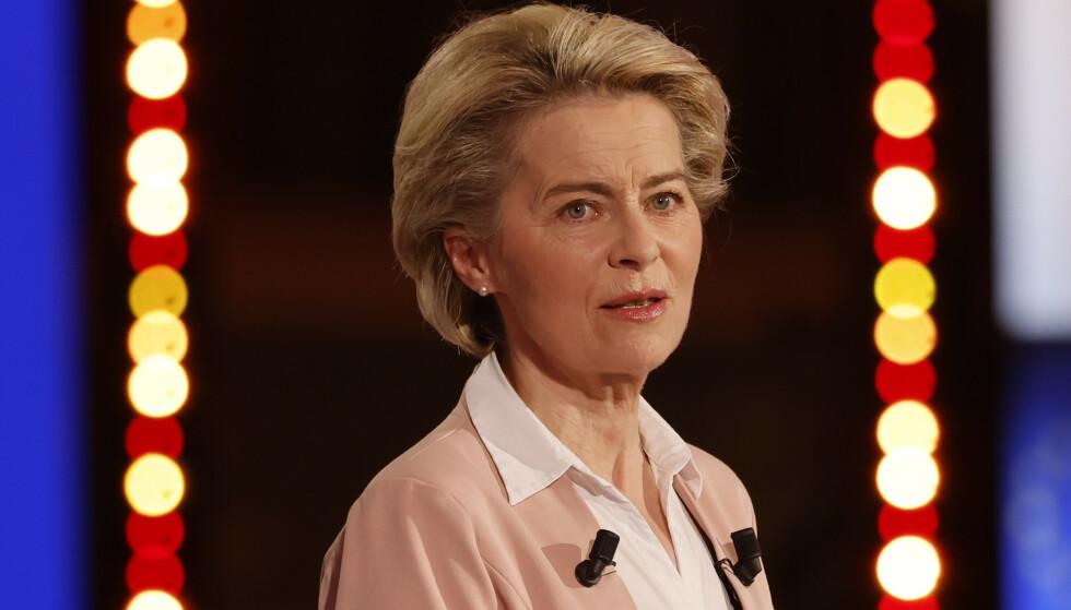 Ursula von der Leyen sier EU vil gi vaksinedoser til fattigere land for å øke tilgangen til vaksiner globalt. Arkivfoto: Jean-François Badias / AP / NTB