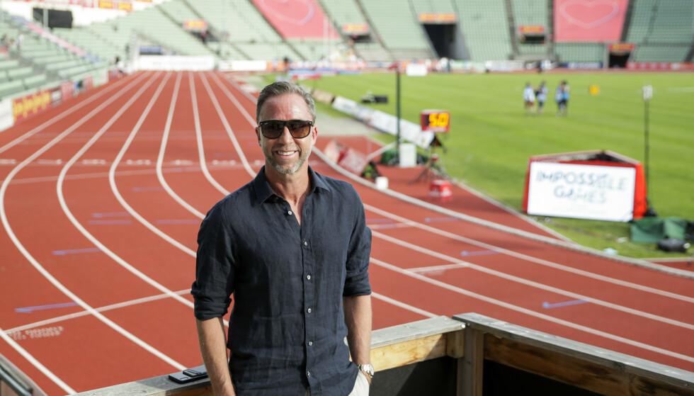 Steinar Hoen på Bislett Stadion, der han i sommer håper å kunne arrangere Bislett Games foran 5.000 tilskuere. Foto: Vidar Ruud / NTB