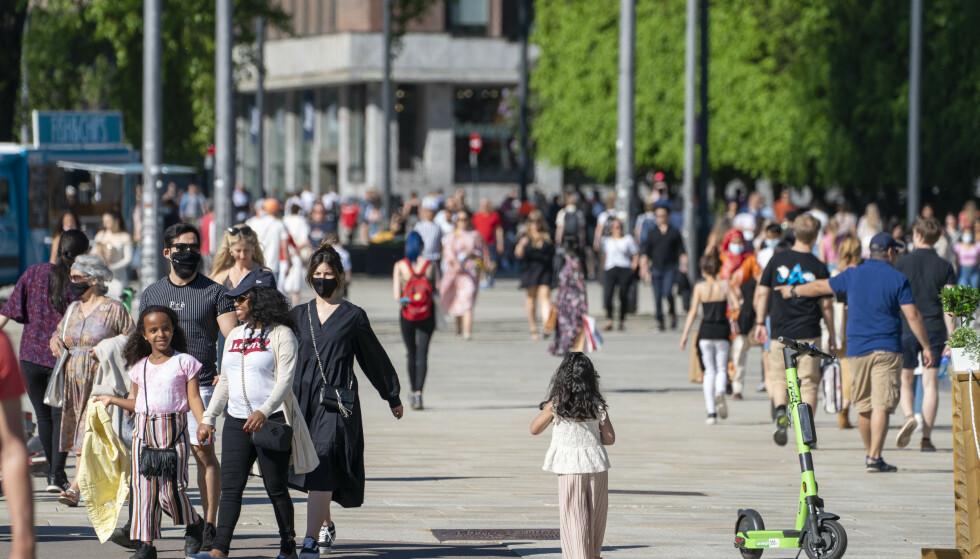 Oslo er i ferd med å gjenåpnes og det siste døgnet er det bare registrert 24 nye koronasmittede personer. Foto: Terje Pedersen / NTB
