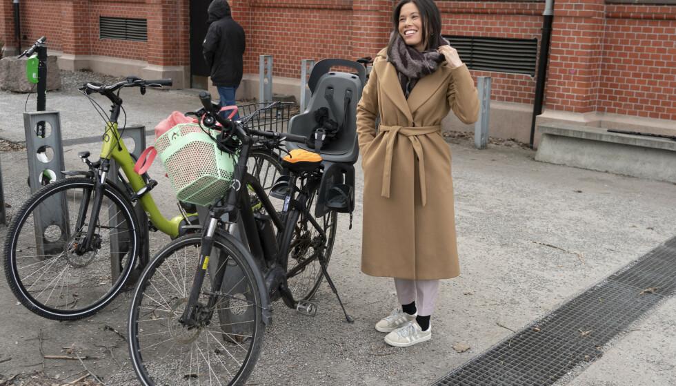 – Elsykkelen kan bli den nye folkevogna, mener MDGs Lan Marie Berg. Foto: Terje Pedersen / NTB