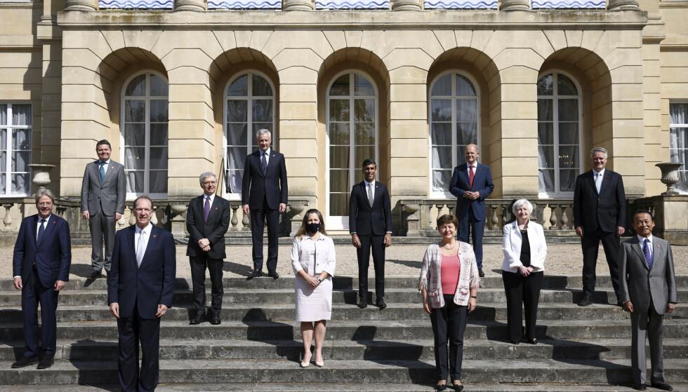 G7-landenes finansministre møttes i London fredag. Foto: Henry Nicholls / AP / NTB