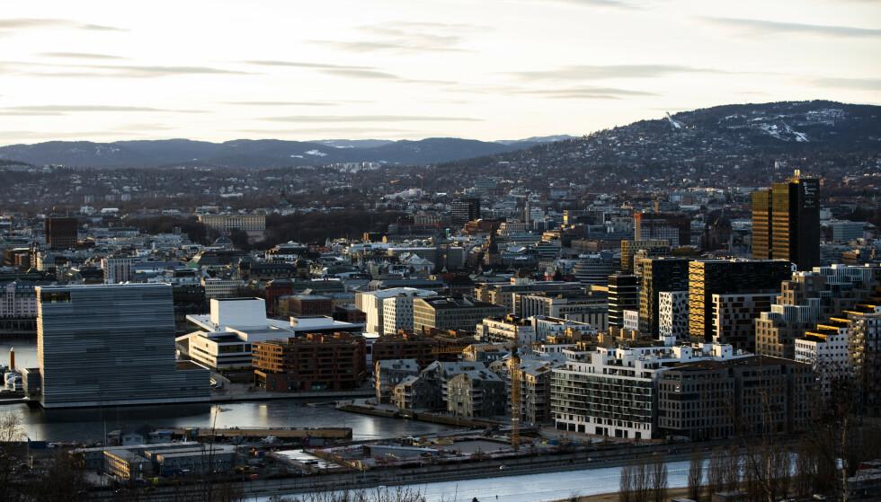 Bilde av Bjørvika i Oslo. Foto: Berit Roald / NTB