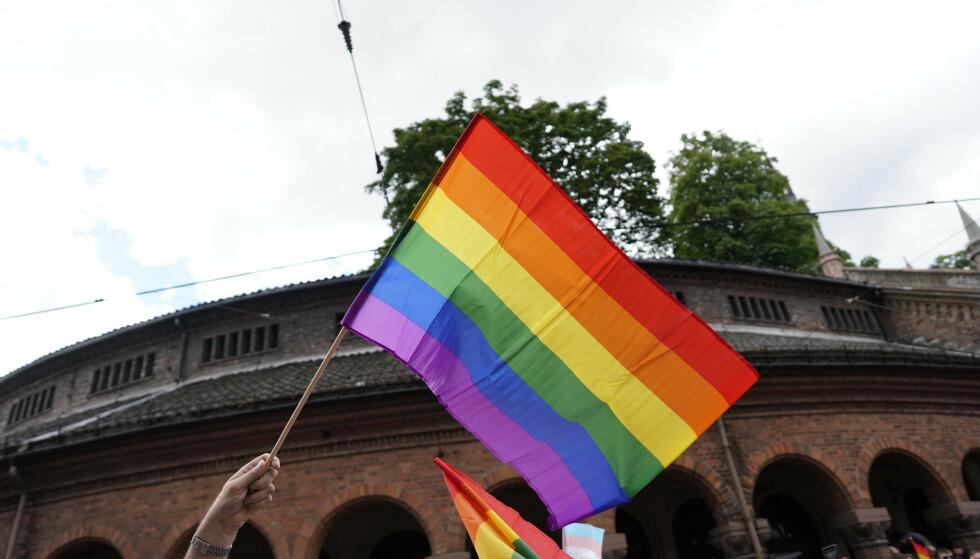 Årets Oslo Pride arrangeres fra 18. til 27. juni. Her fra Oslo Pride Parade i 2019. Foto: Fredrik Hagen / NTB