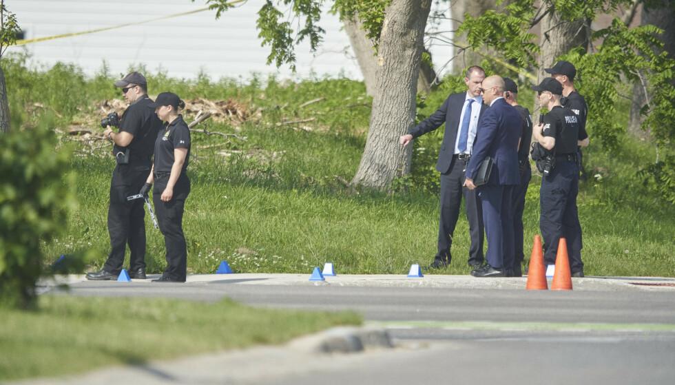 Fire personer ble drept i angrepet, og en femte fikk alvorlige skader. Foto: Geoff Robins / The Canadian Press via AP / NTB