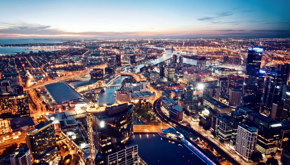 Melbourne er hovedstad i den australske delstaten Victoria og er den nest største byen i Australia. Foto: Andrey Bayda / Shutterstock / NTB